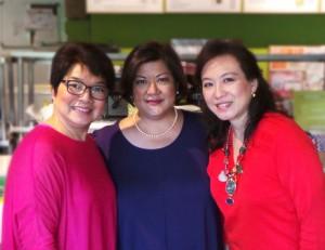 The Echo Trio: L-R: Chit Juan, Reena Francisco and Jeannie Javelosa