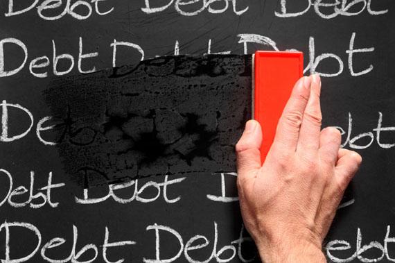 wiping-debts-away