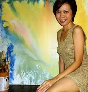 Filipina top abstract painter Chiqui Rodriguez