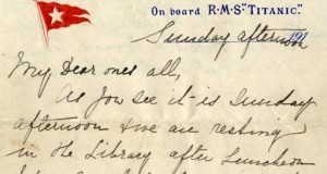 Last Known Letter from the Titanic Sold at $200,000