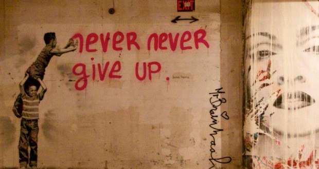 never never give up