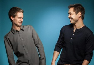 Snapchat Co-founders Evan Spiegel, 23, and Bobby Murphy, 25 (photo: Forbes)