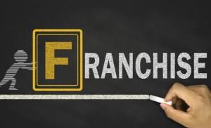 franchise concept on blackboard