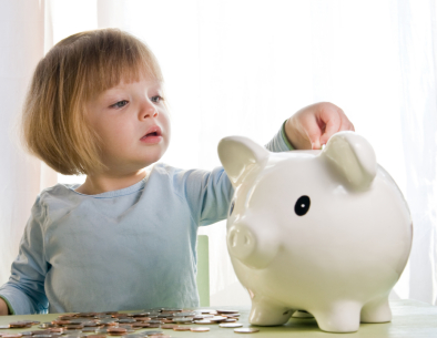 little-girl-piggy-bank