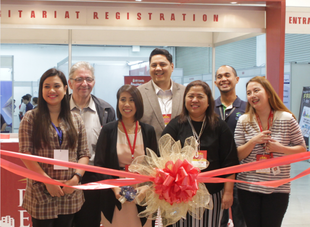 L-R (front): Heslie Laranas (Sales Manager, Camella Homes), Erika Madrinan (Marketing Manager, Lamudi), Doreen Alo (General Manager of Collier's International - Cebu), Faye Austria (Account Officer of Housing Loans & Market Head and Manager of BPI Family Savings -Cebu). (back): Rudolf Kotik (Founder of Filipino International Franchise Association), David Abrenilla (Chairman and CEO, Mediacom Solutions Inc.), Mike Tuano (Head of Mass Marketing, Habitat for Humanity)