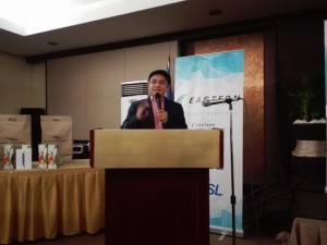 Homer Nievera gives the keynote address at Tanza Oasis for ETPI