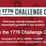 Last Call for Filipino Startups for the 1776 Challenge Cup 2015