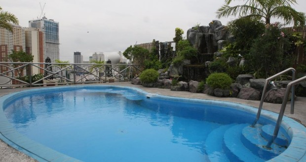 swimming pool located at roof deck