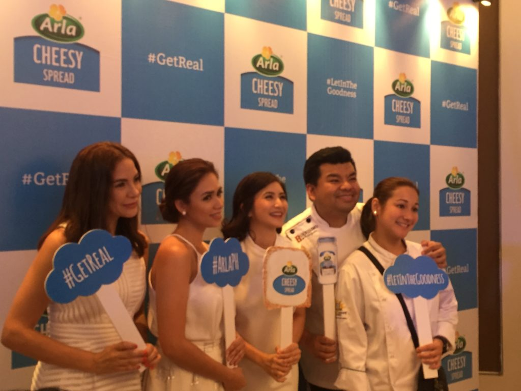 get-real, let-in-the-goodness, real-cheese-spread, arla-cheesy-spread, danica-sotto–pingris, rica-peralejo-bonifacio, amanda-griffin-jacob, chef-gino-gonzalez, chef-china-cojuangco -gonzalez, jens-christian-krogh-nielsen, paolo-serrano