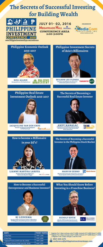 philippine investment expo, investment expo, investment opportunities, current events in the philippines, events company philippines, philippine investment conference