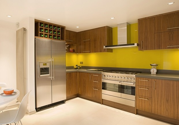 kitchen-glass-splashbacks, walnut-kitchen