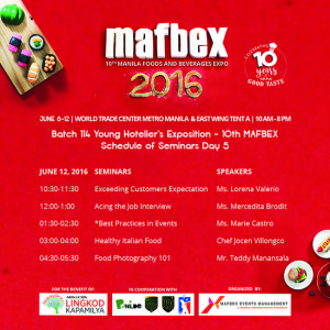 mafbex, food and beverage expo
