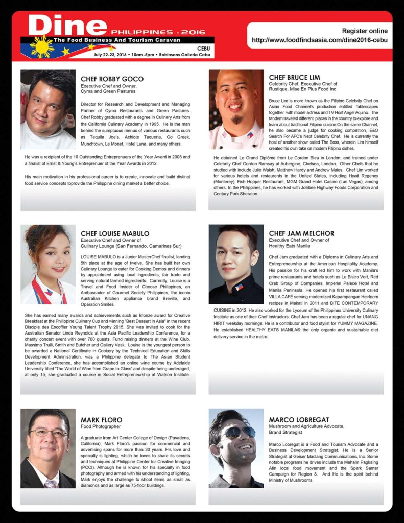 dine-philippines, dine-2016-cebu, food-conference, food-tourism, food-business-caravan, robby-goco, myke-tatung, bruce-lim