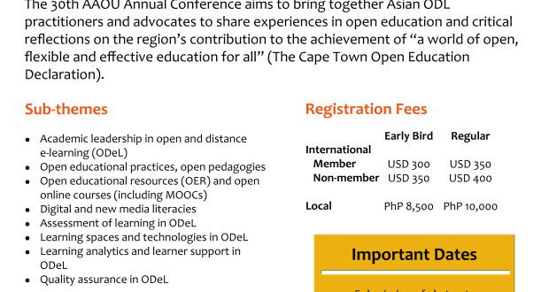 asian-association-of-open-universities-2016, aaou-2016, aaou