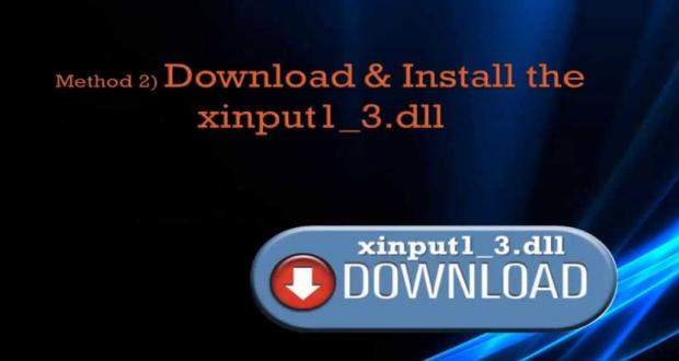 So got an Xinput1_3.dll Error Message