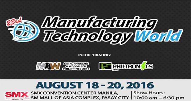 Manufacturing Technology World to Feature Latest in Industrial Machinery and Automation