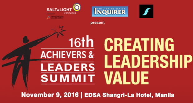 16th Achievers & Leaders Summit: Find and Develop Your Own Leadership Brand