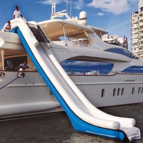 Free shipping on this funny inflatable yacht slide