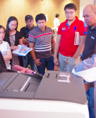 RICOH reached out to manufacturing companies located in the Philippine Economic Zone Authority (PEZA) area in Laguna, holding a pocket session for them and presenting RICOH products.