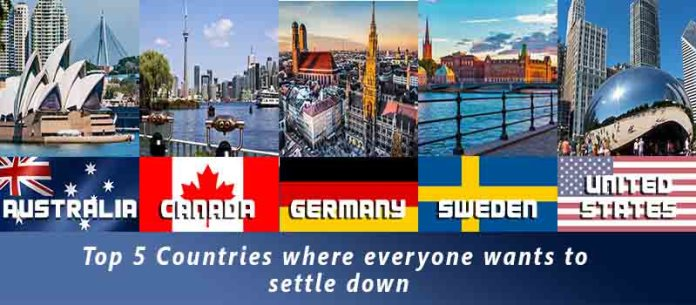 Top- 5 Countries where everyone wants to settle down