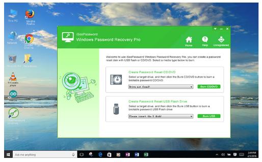 iSeePassword Windows Password Recovery - Cracking Windows