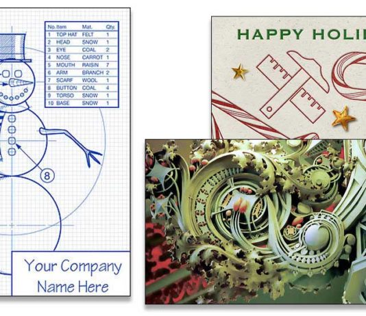 architecture christmas cards