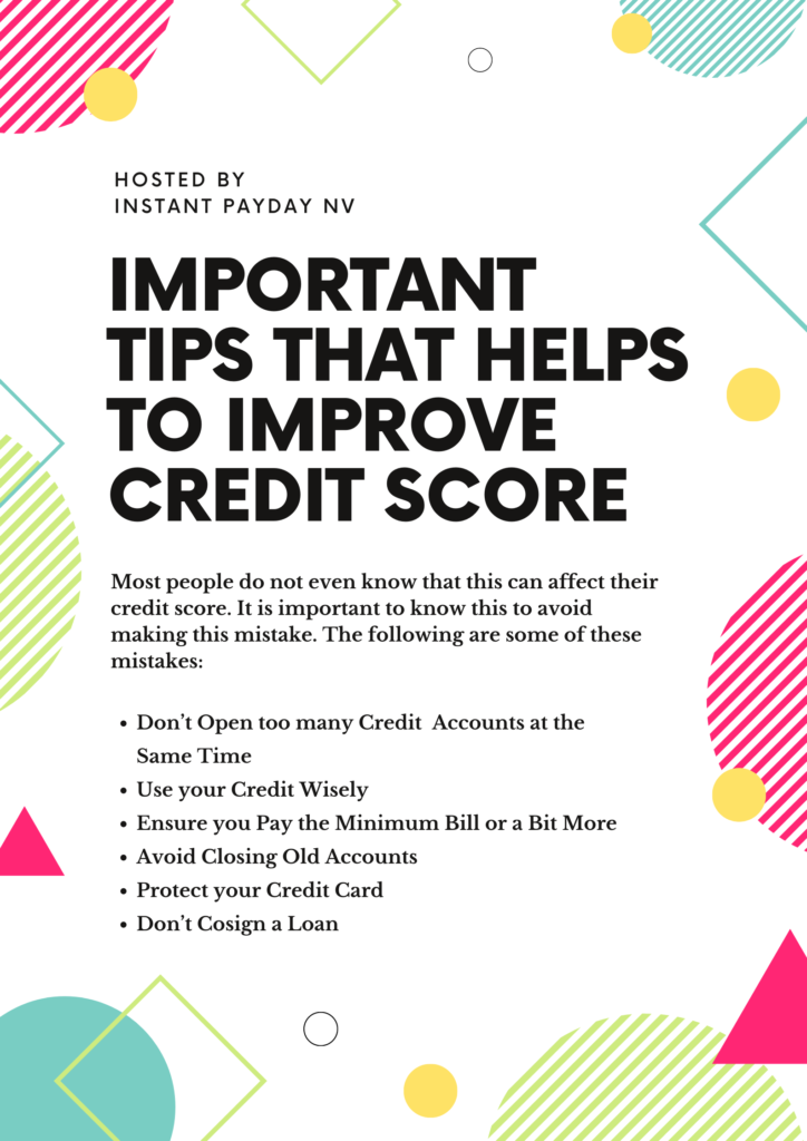 Important tips that helps to improve credit score