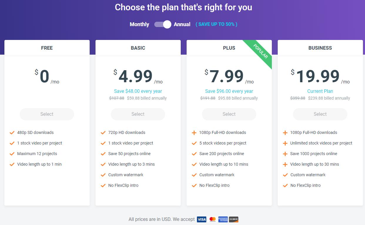 flexclip pricing